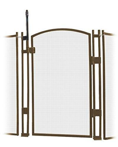 Pool Fence - EZ-Guard Self-Closing Self-Latching Gate - Brown 4' Tall