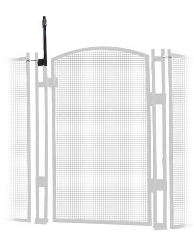 Pool Fence - EZ-Guard Self-Closing Self-Latching Gate - White 4' Tall