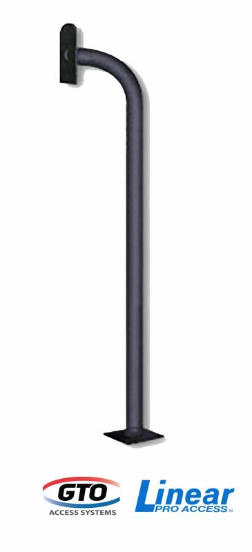 GTO/Linear Pro Gooseneck Pedestal - Surface Mount - Modular Tube Design (F110)