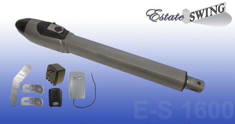 Gate Opener - Estate Swing E-S 1600 Single Gate Opener w/ Free Extra Remote (E-S 1600)