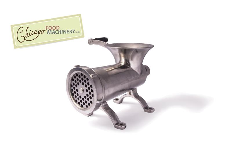 Chicago Food Machinery #32 Stainless Steel Meat Grinder with Exterior Polish Finish