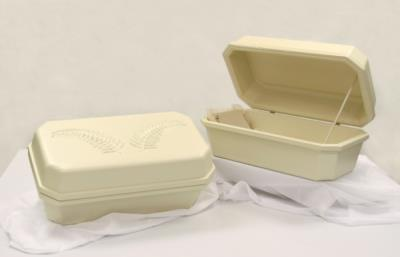 Hoegh Large Pet Casket #32 Almond - Double Wall - Regular Style