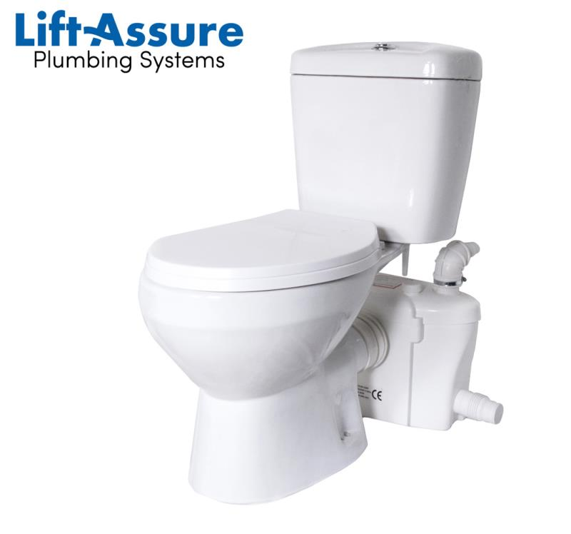 lift assure american round macerating toilet kit