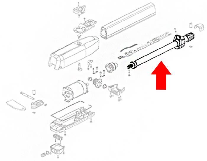 Estate Swing ES 1600 Arm Tube Replacement (60202305)