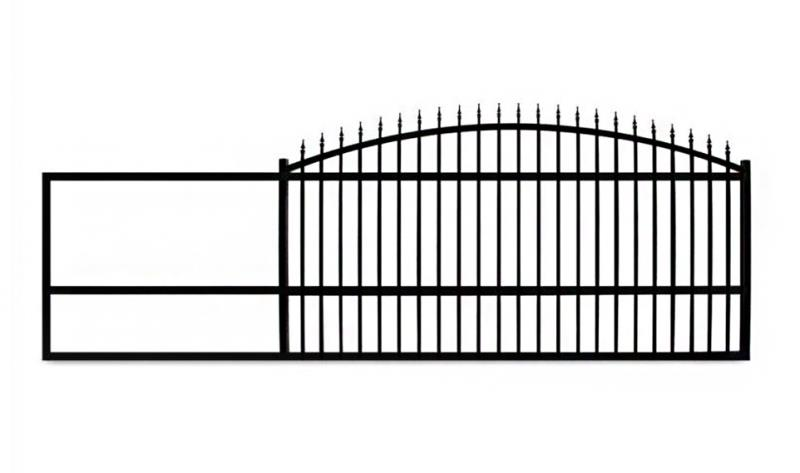 The Estate Slide 14 Foot Long, Single Driveway Gate Made in USA - Please select an option