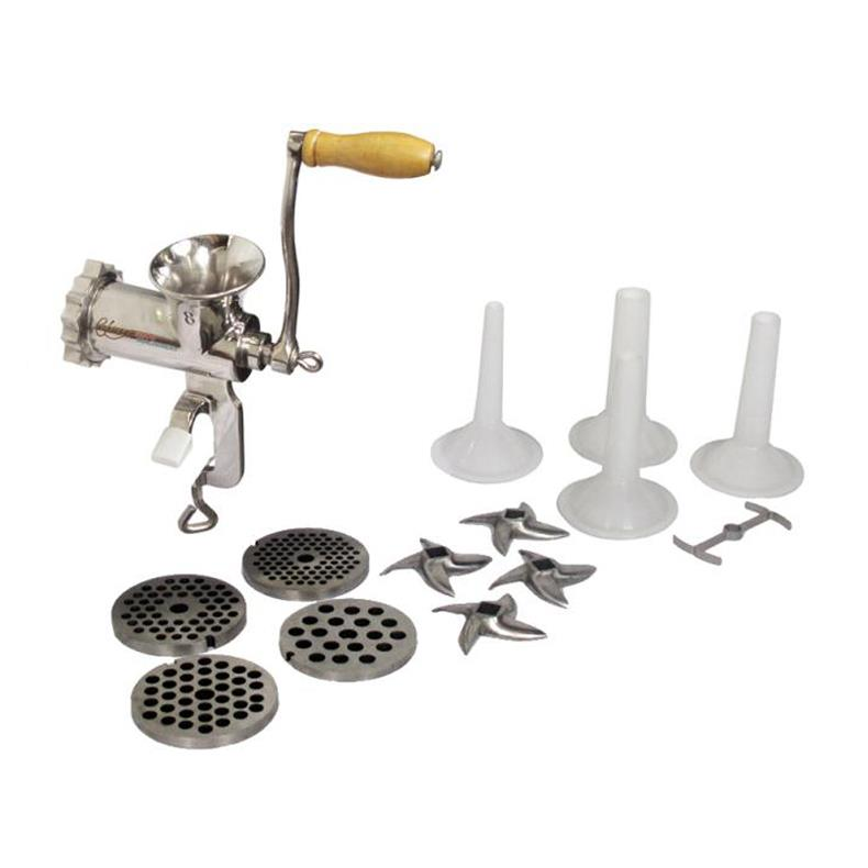 Chicago Food Machinery #8 Meat Grinder and Sausage Stuffing Kit