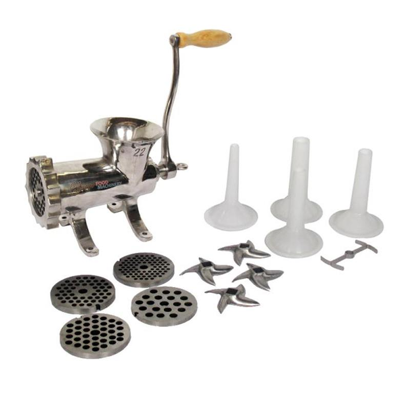 Chicago Food Machinery #22 Meat Grinder and Sausage Stuffing Kit