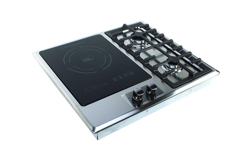True Induction Built-in RV Stove with Double Gas Burner and Electric Induction Cooktop