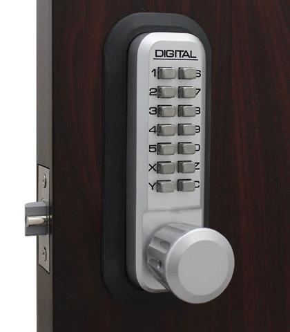 LockeyUSA 2830 Passage Knob Lock - Bright Brass
