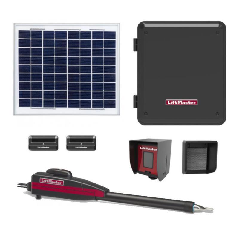 LiftMaster / Chamberlain LA-412 Single Swing Solar Gate Opener w/ 20w Solar Panel & MyQ Technology & Large Control Box