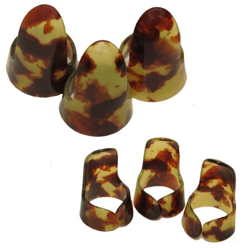 Colored  Autoharp Finger Picks - Set of 3 (FP3) - Tortoise Shell