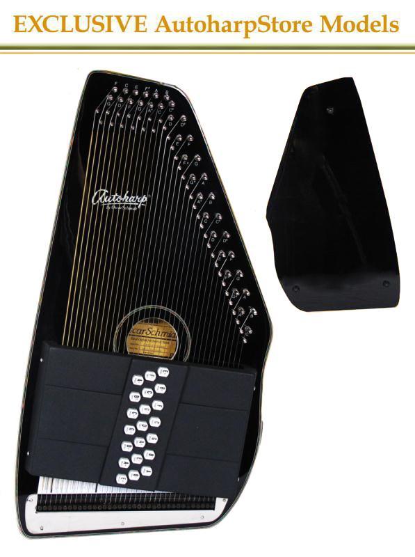 Oscar Schmidt OS11021FGBE Electric AutoHarp Gloss Black AutoHarp
