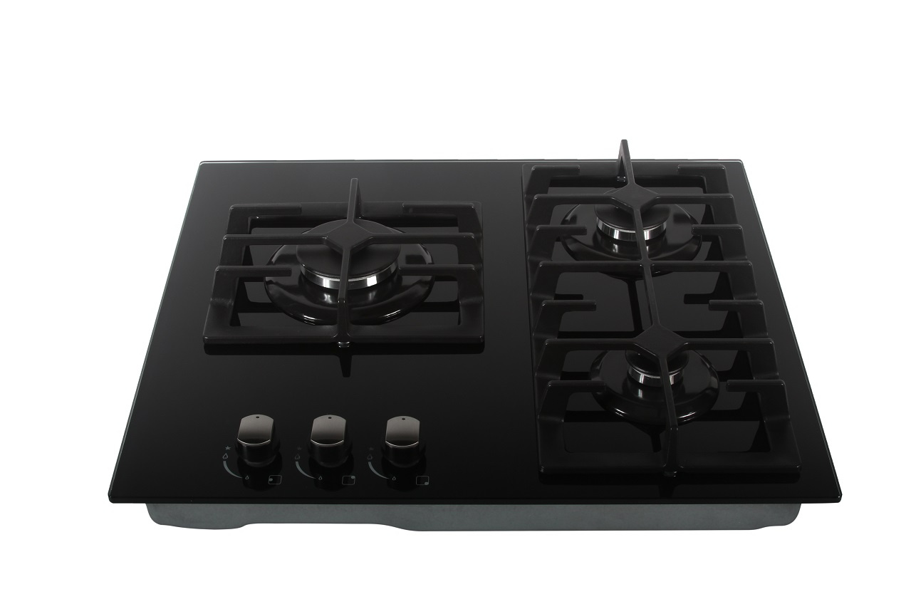 True Induction Built-in Glasstop Stove with 3 Gas Burners