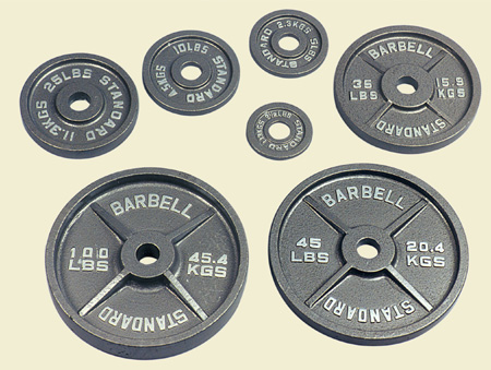 USA Sports Grey 45 Lb. Olympic Plate (O-045)