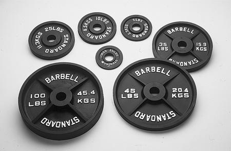 USA Sports Black 45 Lb Olympic Plate (BO-045)
