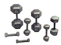 USA Sports 525 Lb Solid Cast Hex Dumbbell Set (IDH525DumbSet)