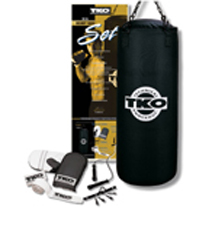 TKO 5 Pc. Double-End Canvas 50 lb. Heavy Bag Set  (502CS-50)