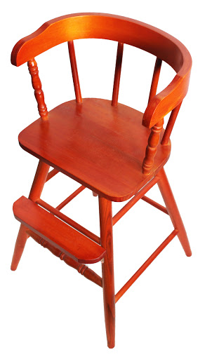 Flamed Mahogany Finish New Sargent's Youth Chair
