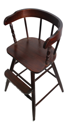 Dark Walnut Finish New Sargent's Youth Chair