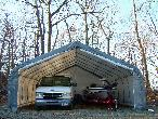 Two Car House Style 22x24x12 by Shelter King