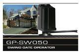 GTO / PRO GP-SW050 Single Swing Automatic Gate Opener
