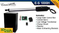 Estate Swing E-S1000H Single Swing Solar Gate Opener w/ Free Extra Remote
