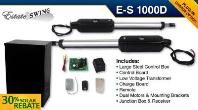 Estate Swing E-S1000D Solar Dual Swing Gate Opener w/ Free Extra Remote - w/ Plug-in Option