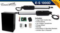 Estate Swing E-S1000D Solar Dual Swing Gate Opener w/ Free Extra Remote