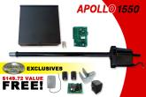 Apollo Gate Opener - Apollo 1550 Single Gate Opener w/ Free DIY Kit (1550)