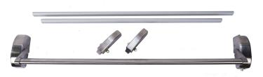 120 Series Stainless Steel Narrow Stile Vertical Rod Two Point Latch Rim Surface Mount Panic Exit Bar