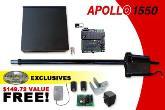 Apollo Gate Opener - Apollo 1550 Single Gate Opener w/ Free DIY Kit (1550)