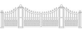 Entranceway Staggered Concave Design Dual Gate