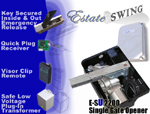 Gate Opener - Estate Swing E-SU 2200 Underground Single Swing Gate Opener w/ Free Extra Remote