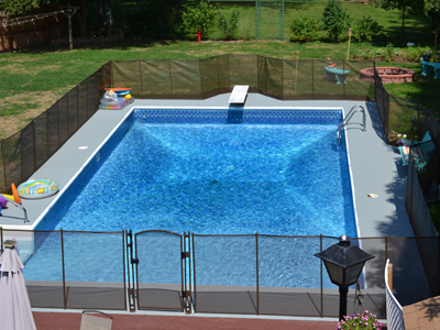 Forest Brown EZ-Guard Pool Fence