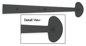 Acorn 12' (305mm) Smooth Iron Dummy Strap w/Bean Design - EACH (Black)(ACO-AHYBP)