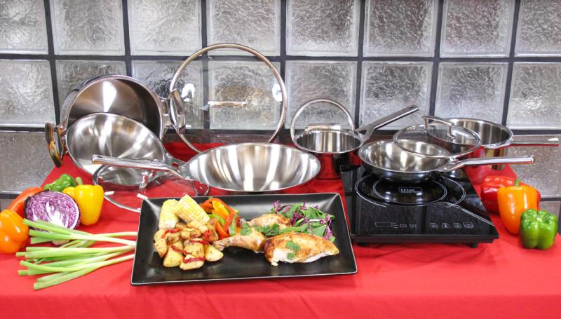 Single Burner With True Induction Gourmet Cookware Set