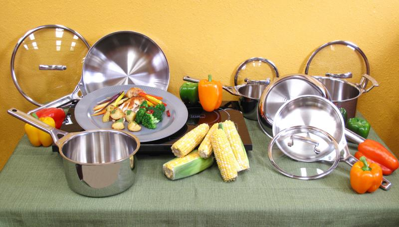Double Burner With True Induction Gourmet Cookware Set
