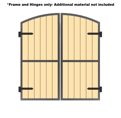 Arched Dual Carriage Door Frame